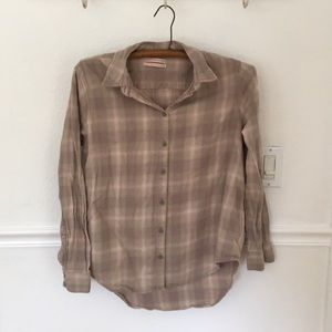 Urban Outfitters soft plaid cotton flannel, S/P